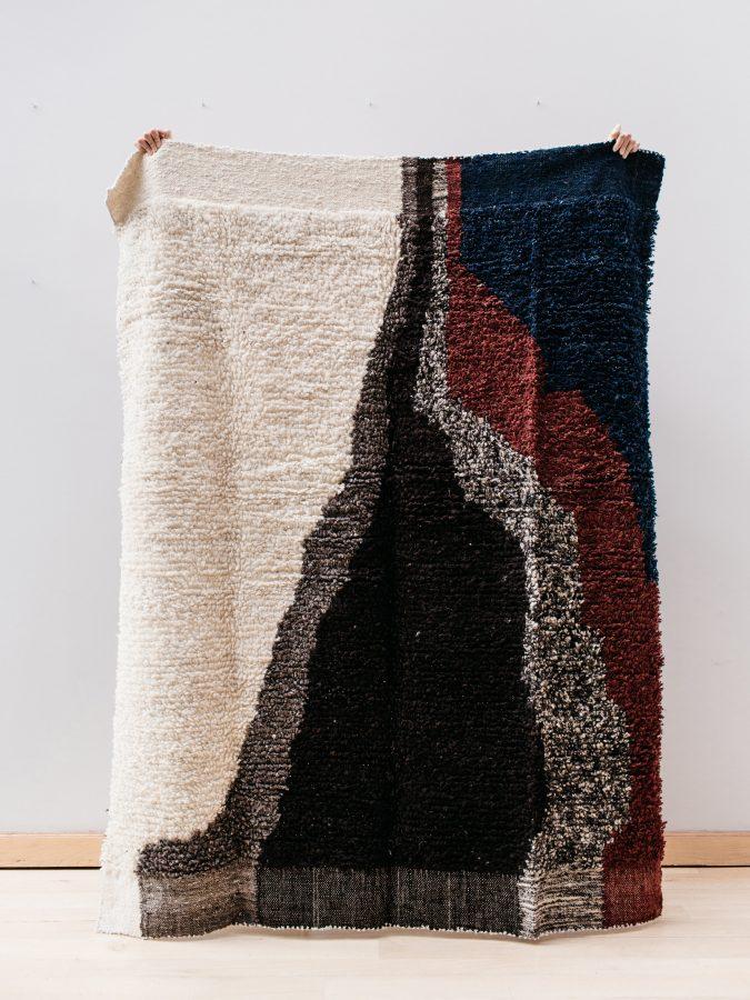handwoven handspun mayan rug contemporary design artisans guatemala belgium design rugs footloom