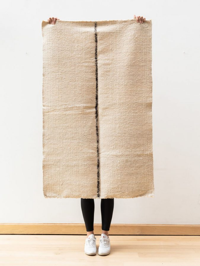 handwoven wool rugs hand-spun yarn foot-loom contemporary design rugs
