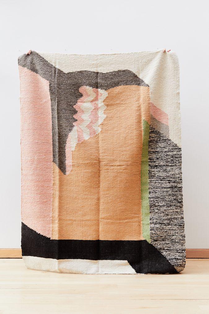 que onda vos rugs laberinto handwoven hand-spun wool